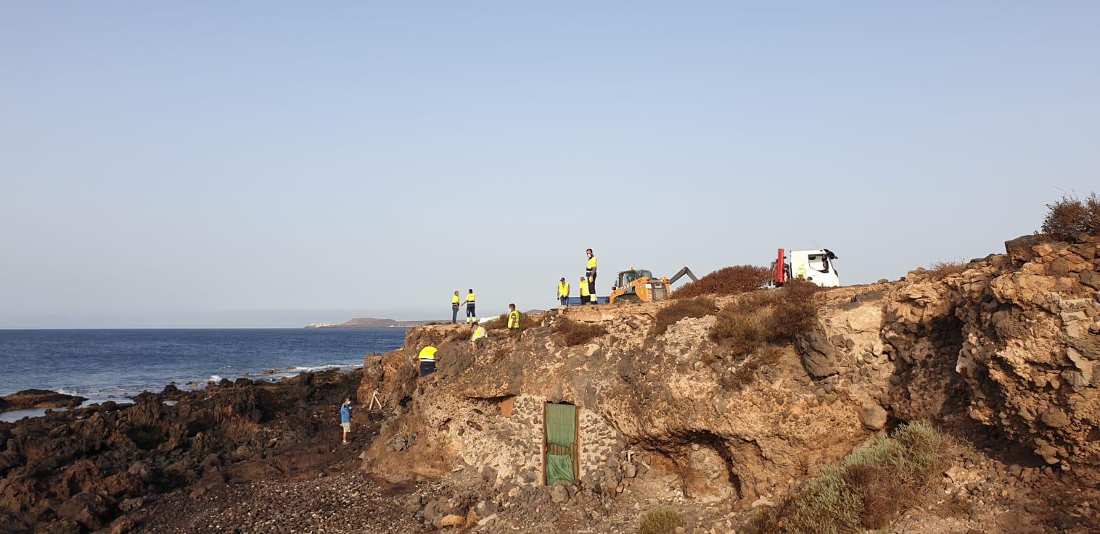 Desalojo de asentamientos ilegales en Granadilla de Abona (Tenerife) / CanariasNoticias.es