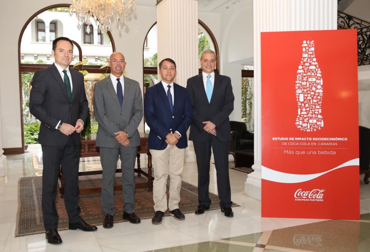 Coca Cola cifra en 330 millones y 4.700 empleos su impacto en Canarias