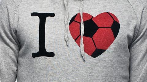 Camiseta con I love futbol