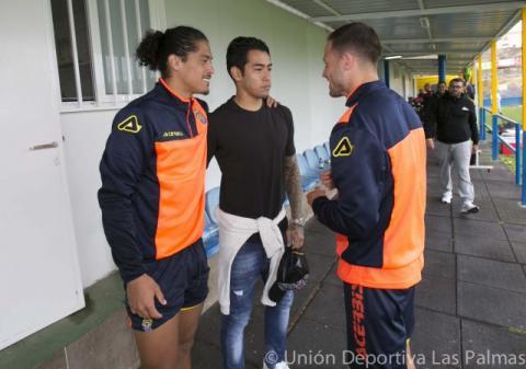 Sergio Arajujo en el entrenamiento de la UD Las Palmas