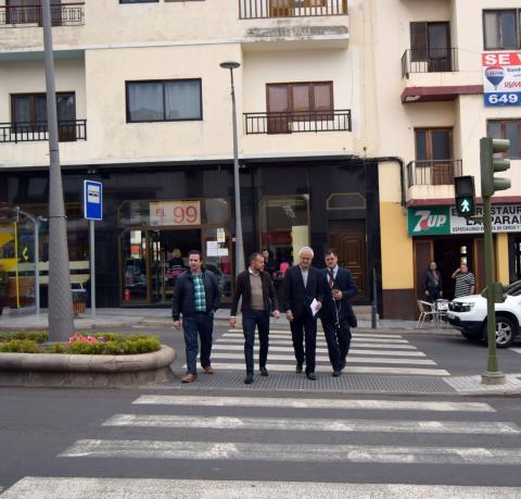 Paso de peatones en Gáldar