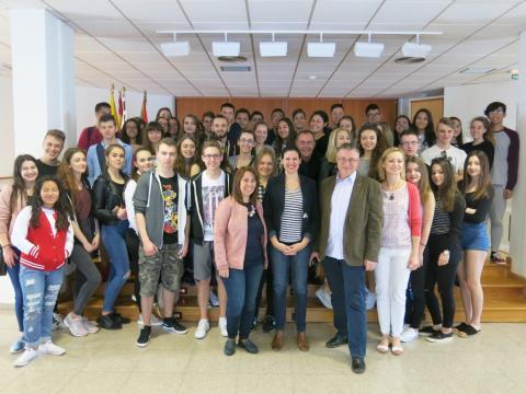 Grupo de alumnos de intercambio Erasmus+ en Santa Lucía