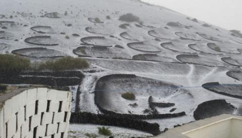 Granizo en Lanzarote