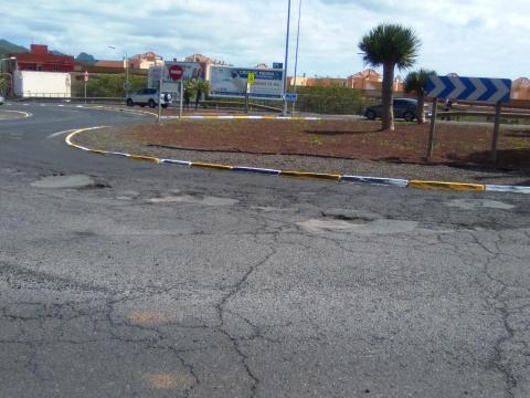 Estado de las carreteras en La Laguna
