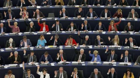Parlamentarios en el Parlamento Europeo