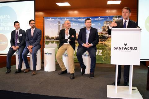 El alcalde josé Manuel Bermúdez en las Jornadas de Empleo