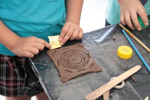 Actividades artesanas en un colegio de Lanzarote