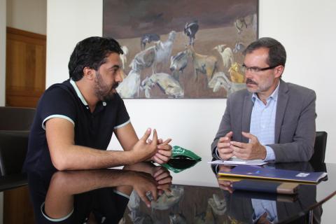 Marcial Morales y el activista saharaui