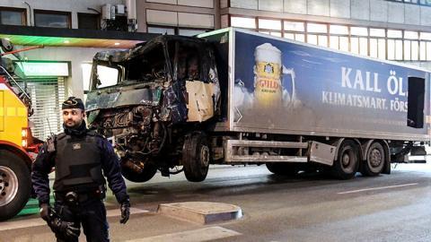 Camión del atentado en Estocolmo