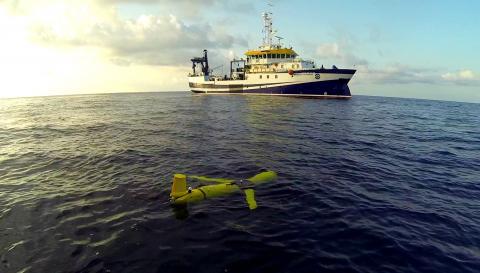 Glider en el agua