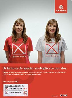 """Campaña """"X Solidaria"""" de Cáritas"""