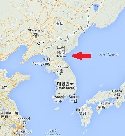 Mapa de Corea del Norte