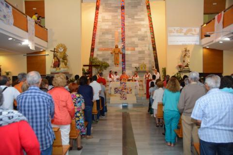 Encuentro Diocesano de Jóvenes en la iglesia de El Tablero