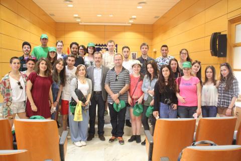 Jóvenes del Proyecto Erasmus+ en el Cabildo de Fuerteventura