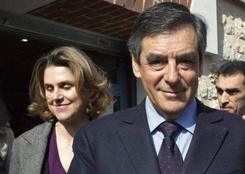 François Fillon y Caroline Morand