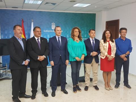 Alcaldes de Las Palmas de Gran Canaria, Telde, La Laguna, Santa Cruz de Tenerife con Cristina Valido