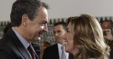José Luis Rodríguez Zapatero y Susana Díaz