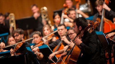 Músicos de la Joven Orquesta de Canarias