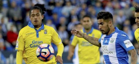 Jugadores de la UD Las Palmas y del Leganés