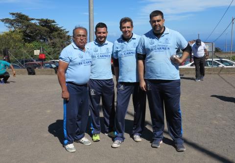 Equipo de Petanca masculino El Carmen