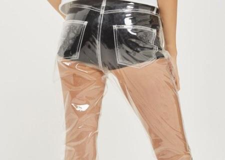 Pantalones de plástico transparentes