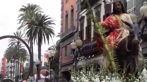Procesión de la Burrita en Semana Santa en Las Palmas de Gran Canaria