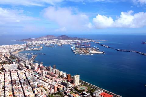 Vista del Puerto de Las Palmas