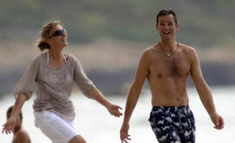 La infanta Cristina e Iñaki Urdangarín en la playa