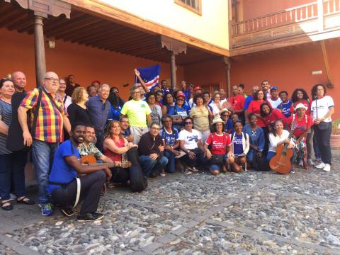 Grupo de senderistas de Cabo Verde en Telde