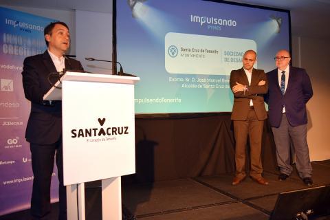 José Manuel Bermúdez, alcalde de Santa Cruz de Tenerife en la inauguración de las jornadas Impulsando Pymes