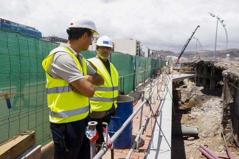 Javier Doreste supervisa las obras