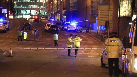Policía en el atentado de Manchester