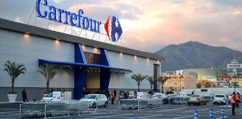 Fachada de un supermercado Carrefour