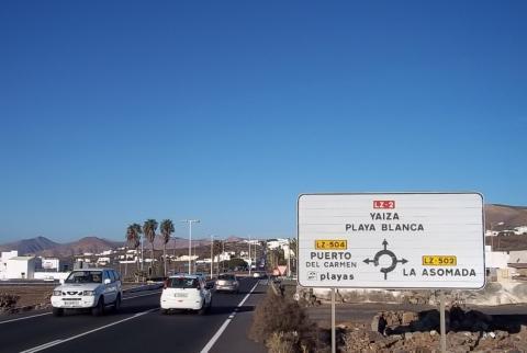 Carretera de La Asomada a Mácher en Lanzarote
