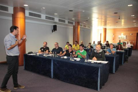Reunión de trabajo de la economía del sector del buceo en Lanzarote