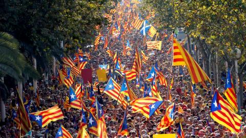 Manifestación en las calles de Barcelona