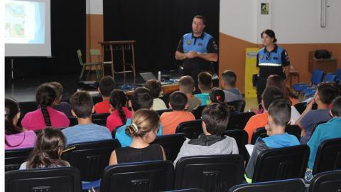Charla de Seguridad Vial a estudiantes de CEIP San Miguel de Abona