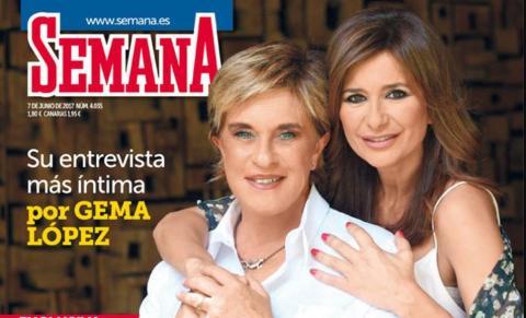 Portada de la revista Diez Minutos con Chelo García y Gema López