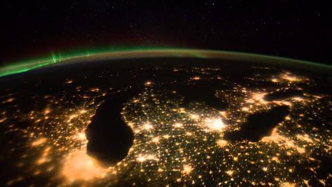 Contaminación luminica en la Tierra