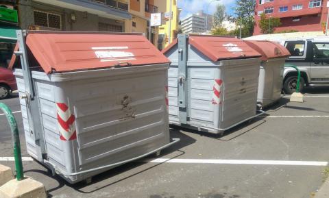 Contenedores de basura de Santa Cruz de Tenerife