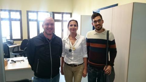 Carlos Álamo, Mª del Carmen Rosario y Javier Gil