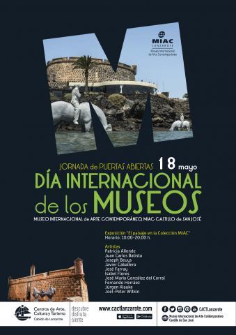 Cartel del Día de los Museos en Lanzarote
