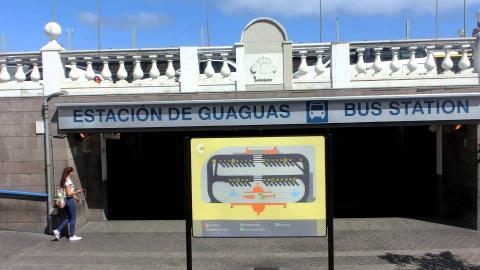 Estación de guaguas de San Telmo en Las Palmas de Gran Canaria