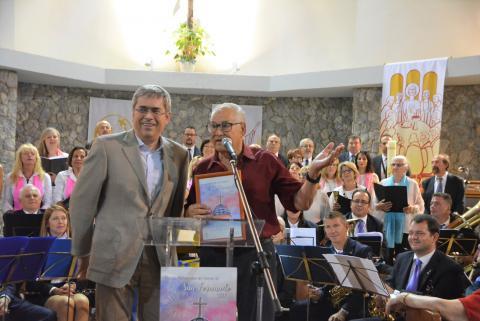 El alcalde de San Bartolomé de Tirajana, Marco Aurelio Pérez en el pregón