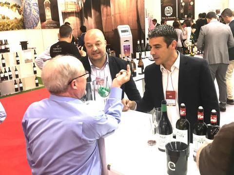 Narvay Quintero en la Feria del Vino