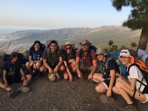 Jóvenes Scouts en Tenerife