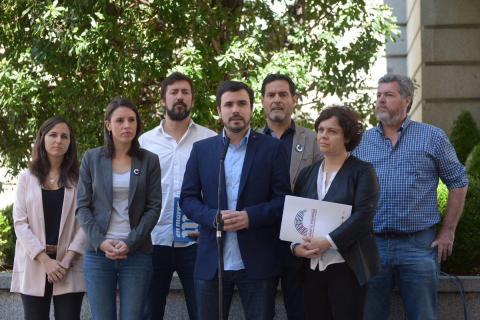 Presentación de la moción de censura de Unidos Podemos a Mariano Rajoy