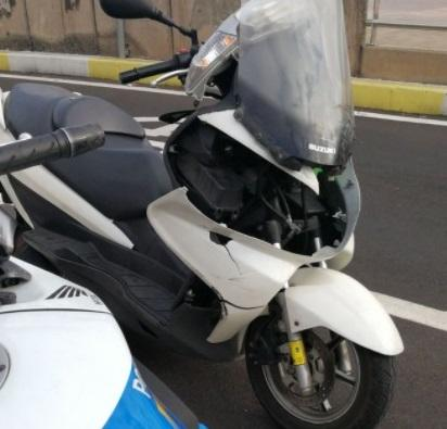 Motorista accidentado en Las Palmas de Gran Canaria