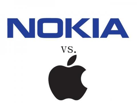Logos de Nokia y Apple