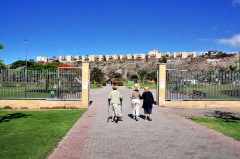 Nueva valla del Parque del Sur de San Bartolomé de Tirajana